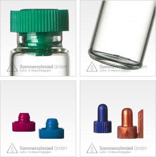Aromafläschchen, Parfümflaschen, Aromaflaschen, Parfümfläschchen, Probeflaschen, Aromaverschlüsse, Parfümproben Braunglas