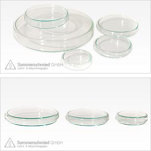 Petrischale, Petrischale aus Glas, Petrischale aus Kunststoff, Petrischale mit Deckel